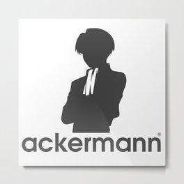 ackermann logo grey Metal Print