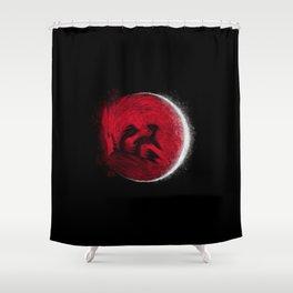 Super Blood Wolf Moon Shower Curtain