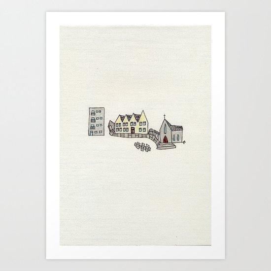 I wasn't born here. Art Print