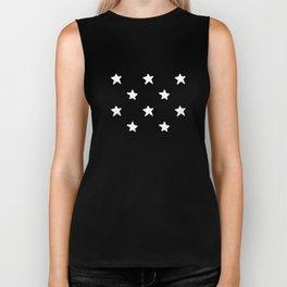 Polka Stars: Black and White Biker Tank