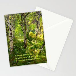 Aspens and Chinese Proverb Stationery Cards