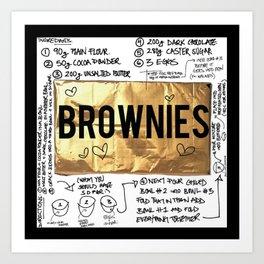 brownie recipe Art Print