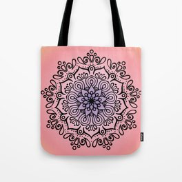 Baesic Sunset Traquil Mandala Tote Bag