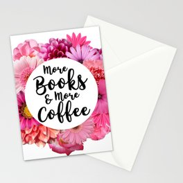 More Books & More Coffee Stationery Cards