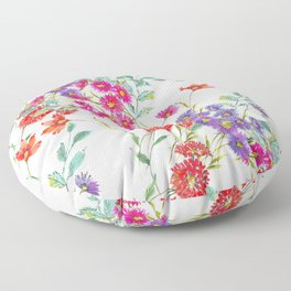 fresh floral spring scatter Floor Pillow
