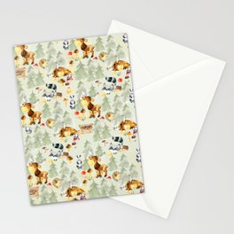 Adventure Awaits - Little Wild Animals In Woodland Forest Stationery Cards