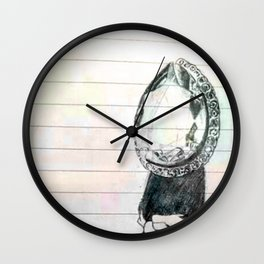 colour diamonds Wall Clock