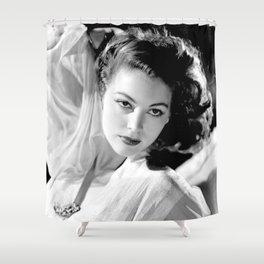 Ava Gardner, Hollywood Starlet black and white photograph / black and white photography Shower Curtain