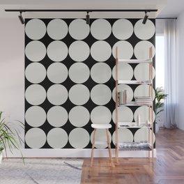 Circular Minimalism - Black & White Wall Mural