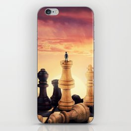 the rise of a chess player iPhone Skin