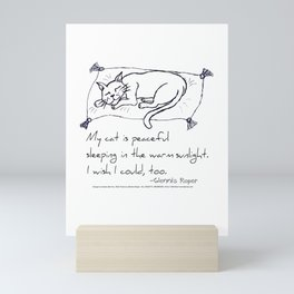Cat Nap Haiku Mini Art Print