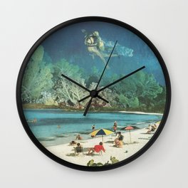 Tropical Playground Wall Clock