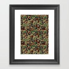 Pug Camouflage Framed Art Print