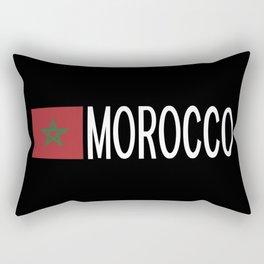 Morocco: Moroccan Flag & Morocco Rectangular Pillow