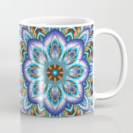 Fantasy flower in purple and blue Coffee Mug