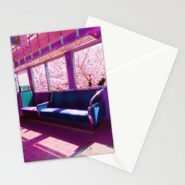 Cherry Blossom Train Stationery Cards