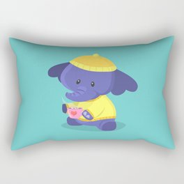 Elephant Winter Times Rectangular Pillow