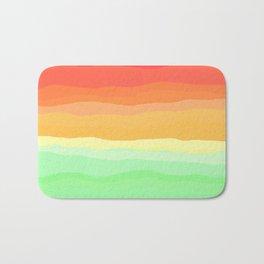 Rainbow - Cherry Red, Orange, Light Green Bath Mat