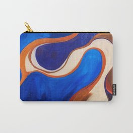 Abstract Blue and Orange Bird Carry-All Pouch