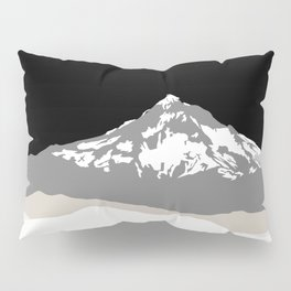 Snow Capped Mountain Landscape - Black and White Pillow Sham