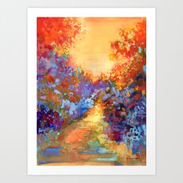 Late Afternoon Autumn Sun Art Print