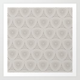 Taupe Textured Pattern Design Art Print