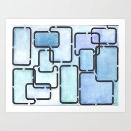 Office Blues Art Print