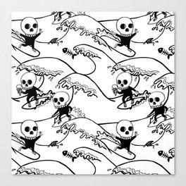 surferSkeleton Canvas Print