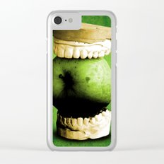 one apple a day Clear iPhone Case