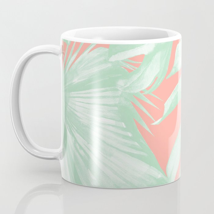 Island Love Coral Pink + Light Green Coffee Mug