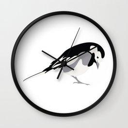Pied Wagtail Wall Clock