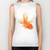 goldfish Biker Tanks featuring Goldfish by Ty Foley
