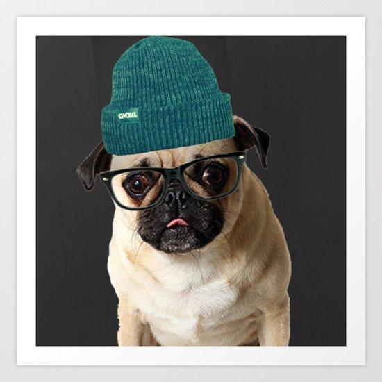 Pug Life ( Hipster ) Art Print