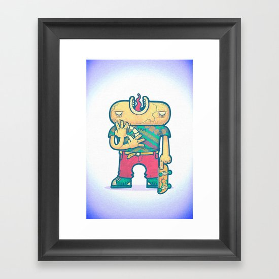 brain free Framed Art Print