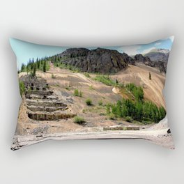 Sunnyside Mill at Eureka on the Alpine Loop, Remnant of the Gold Rush Rectangular Pillow