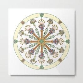 Egyptian Nouveau Mandala Metal Print