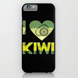 I Love Kiwi Fruit Farm Vegetables Edible iPhone Case