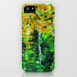 """Autumn Woodland"" Original Painting by Julia Barnickle iPhone Case"
