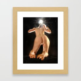 5936-AMS Art Nude Model From Below Rear View Toes Feet Bum Back Framed Art Print