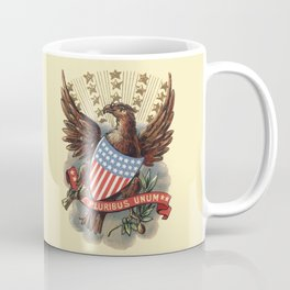 E pluribus unum - Out of many, one - vintage United States Bald Eagle hand drawn illustration Coffee Mug