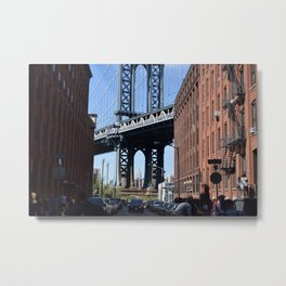 Empire State Building - Through Manhattan Bridge Metal Print