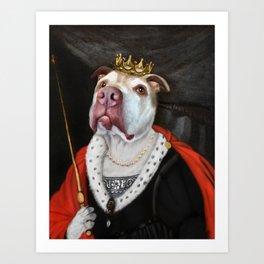 Queen pit bull Art Print