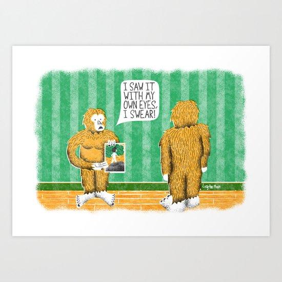 Human Sasquatch Art Print