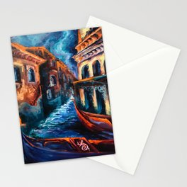 """""""Venice at Night"""" Painting Stationery Cards"""