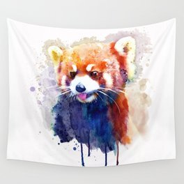 Red Panda Portrait Wall Tapestry