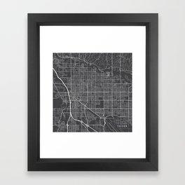 Tucson Map, USA - Gray Framed Art Print