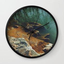 Orange Shore Wall Clock