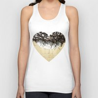 leather Tank Tops featuring Vine & Leather by Peta Sun Fire