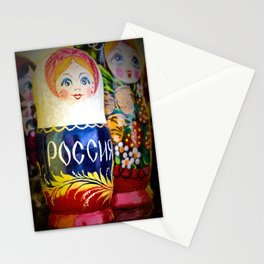 Traditional Russian Matryoshka Nesting Puzzle Dolls Stationery Cards