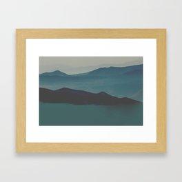 Blue valley Framed Art Print